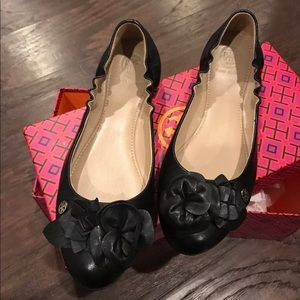 Tory Burch Flat Blossom Nappa leather Ballet shoes